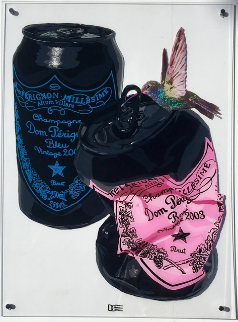, 'Black Cans With Bird,' 2018, Parlor Gallery