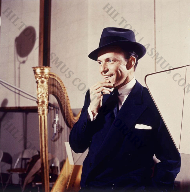 , 'Frank Sinatra - Let me see....anyone here play the harp?,' 1956-1957, Hilton Asmus