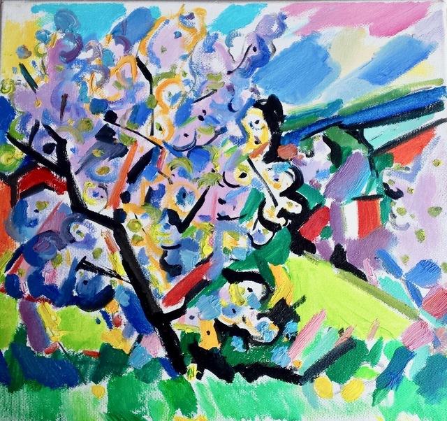 , 'Spring Landscape with Flowering Tree,' 2018, Robert Kananaj Gallery