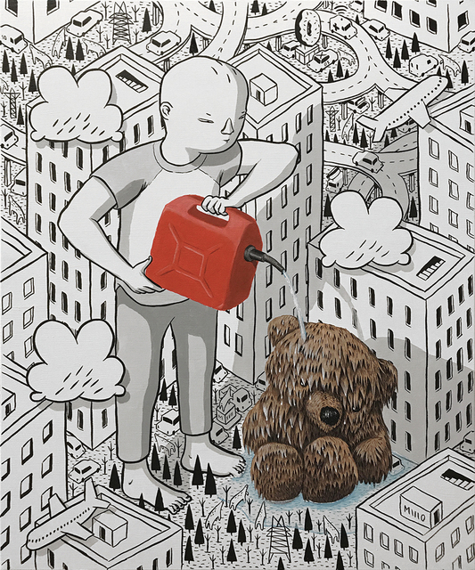 Millo, 'Dear Teddy', Painting, Ink and Paint on Canvas, Dorothy Circus Gallery