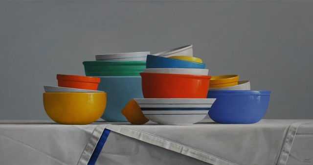 , 'Stacked Bowls,' 2018, Gallery Henoch