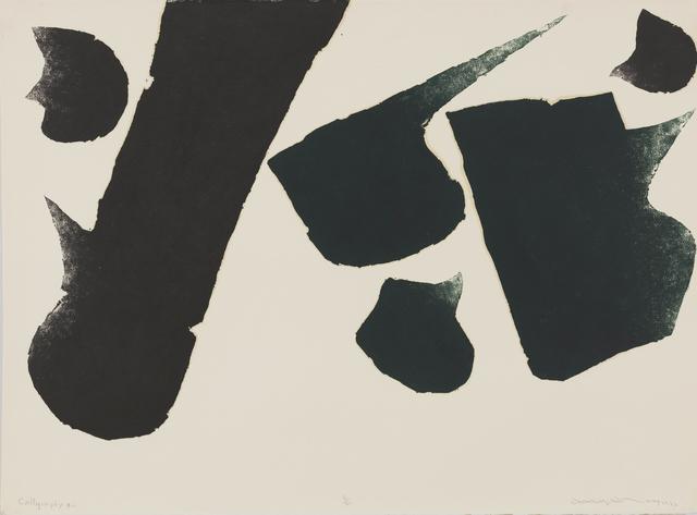 , 'Calligraphy #2,' 1976, Galerie du Monde
