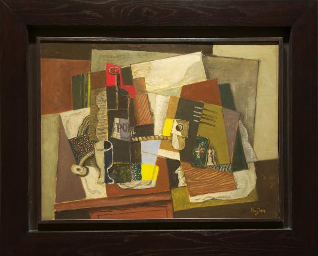 Henri Hayden, 'Nature morte à l'as de trèfle vert et pièces d'échec', 1919, Modernism Inc.
