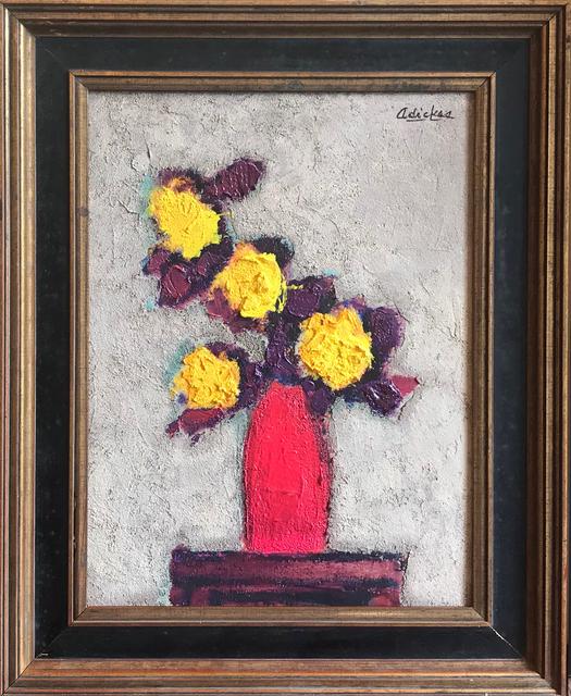 David Adickes, 'Yellow Flowers, Red Vase', 2018, Thornwood Gallery