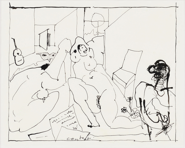 Constant, 'Casanova', circa 1975, Drawing, Collage or other Work on Paper, India ink on paper, Millon Belgium