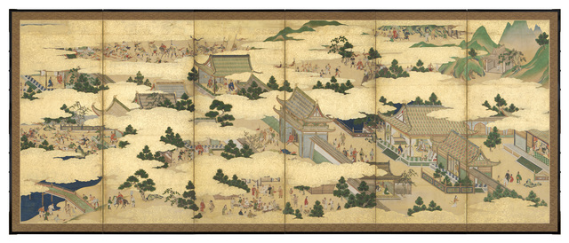 Unknown Artist, 'Six-Panel Screen, Scenes from Life at the Chinese Imperial Court (T-3549)', Edo period (1615–1868)-mid–late 17th century, Erik Thomsen