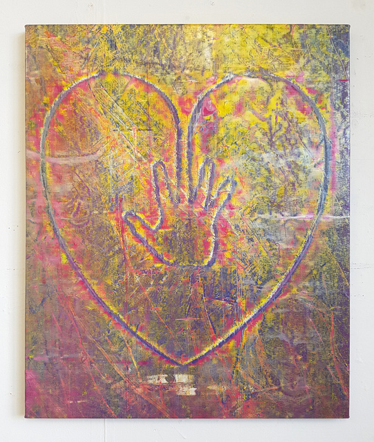 , 'Hand on Heart (Against the World),' 2017, ione & mann