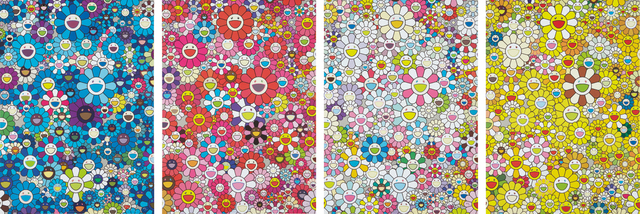 Takashi Murakami, 'An Homage to Yves Klein, Multicolor C; An Homage to Monogold 1960 C; An Homage to Monopink 1960 C; and An Homage to IKB 1957 C', 2012, Phillips