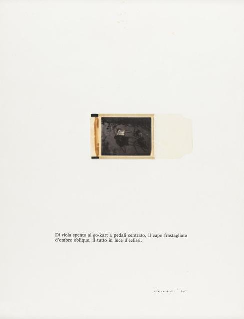 Franco Vaccari, 'Untitled', 1976, Martini Studio d'Arte
