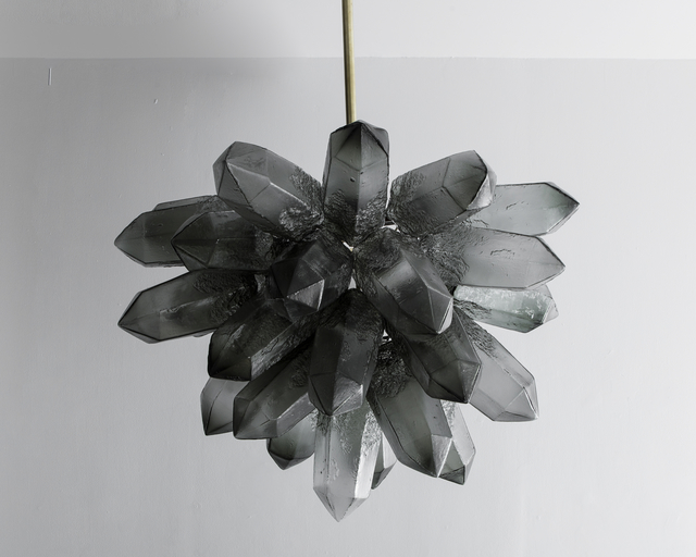 , 'Illuminated Crystal Cluster sculpture in gray hand-blown glass,' 2015, R & Company