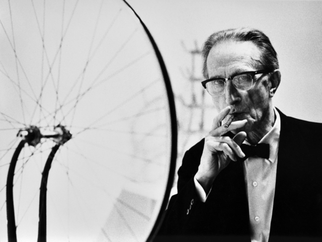 , 'Duchamp smoking Cigar next to Bicycle Wheel , Duchamp Retrospective, Pasadena Art Museum, 1963 ,' 2016, Robert Berman Gallery