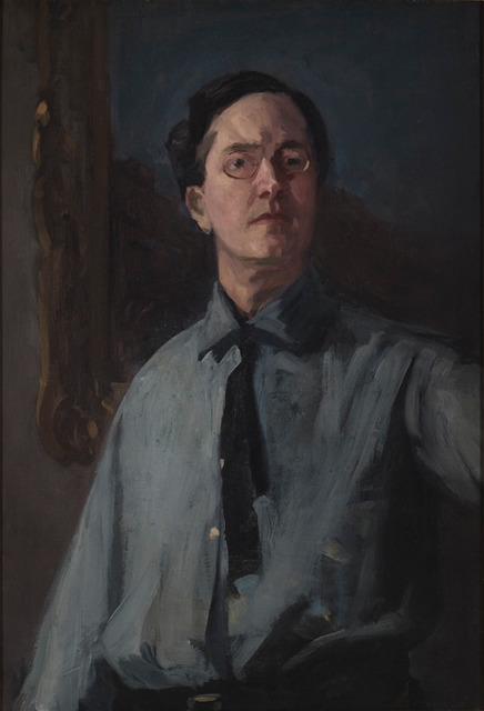 , 'Self Portrait in Gray Shirt,' 1912, Delaware Art Museum