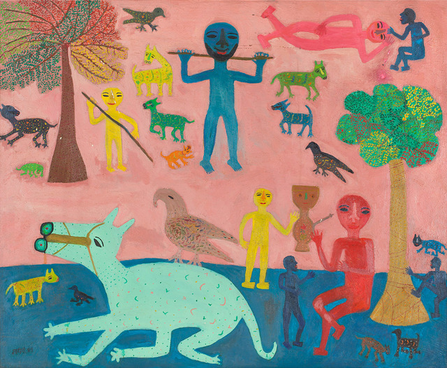 , 'Playing with animals ,' 1989, DAG