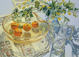 , 'Yellow Glass Bowl with Tangerines,' 2007, DC Moore Gallery