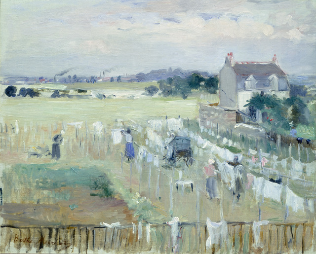 Berthe Morisot, 'Hanging the Laundry out to Dry', 1875, National Gallery of Art, Washington, D.C.