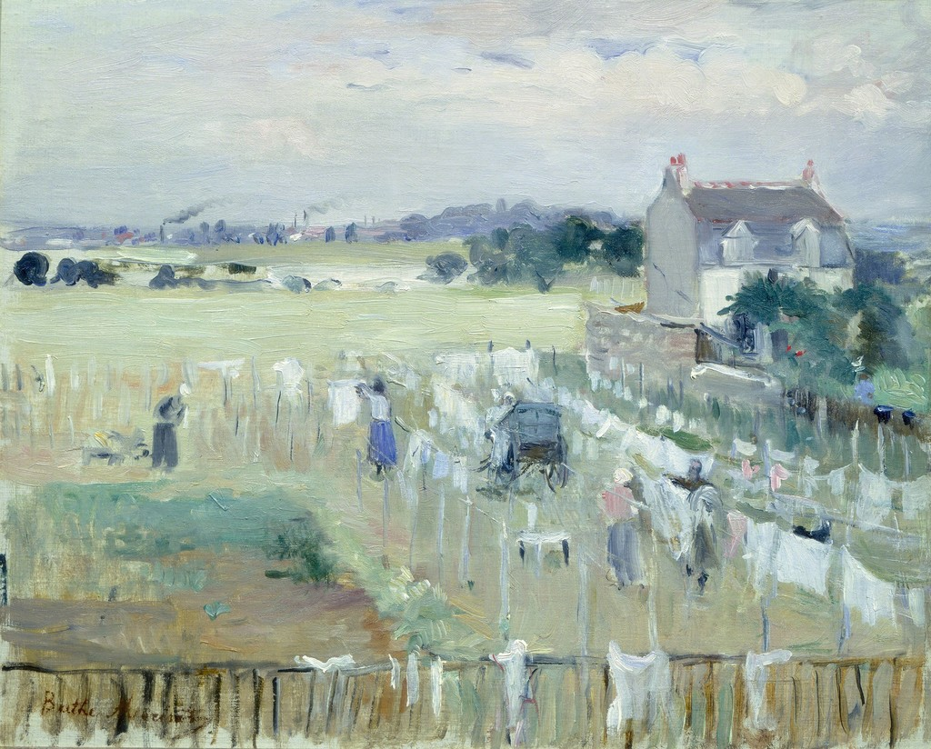 Berthe Morisot Hanging the Laundry out to Dry 1875 Artsy : berthe morisot hanging the laundry out to dry 1875 from www.artsy.net size 1024 x 824 jpeg 263kB