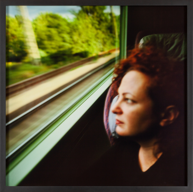 Nan Goldin, 'Self-portrait on the train, Boston - New Haven', 1997, Fraenkel Gallery