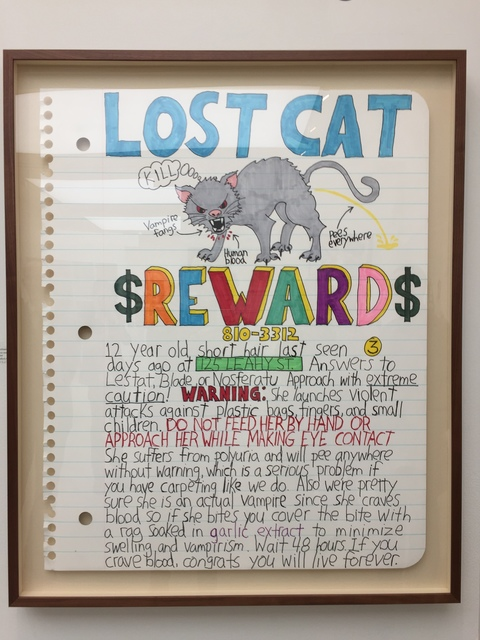 , 'Lost Cat Reward,' 2017, Art Unified Gallery