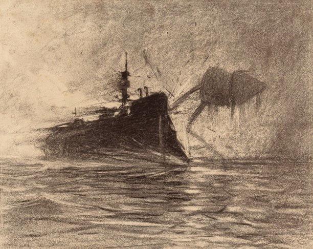 , 'Thunderchild Versus Martian,' 1906, Casa Nova Arte e Cultura Contemporanea