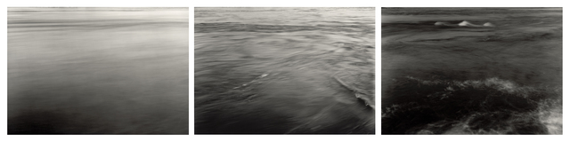 , 'whirl - the Sea River: Early morning, The beginning of the Spring high tide; Early Afternoon - The middle of the Spring high tide; Early evening - The Spring high tide at flood -, The Gulf of Corryvreckan, The Isle of Jura, Looking towards the Isle of Scarba, Argyllshire, Scotland,' 1991 / 2014, Ingleby Gallery