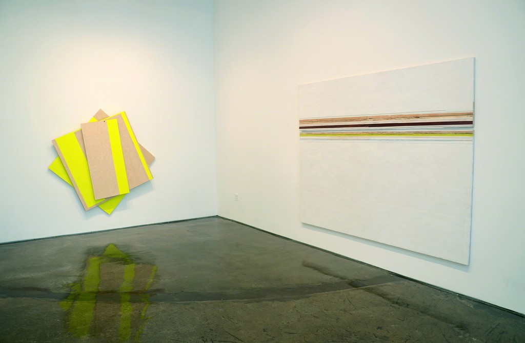 Installation view of Melissa Kretschmer / Russell Maltz: Plywood, MINUS SPACE, Brooklyn, NY, 2015