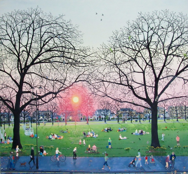 , 'Sunset in Park,' 2017, Rebecca Hossack Art Gallery