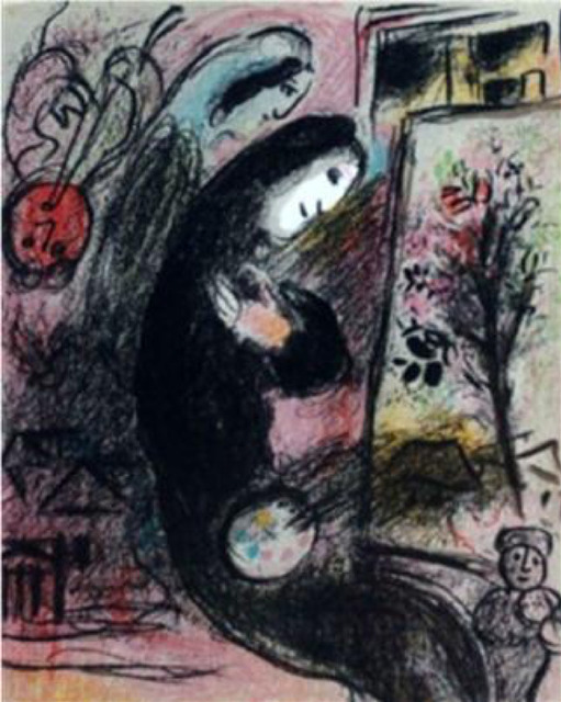 Marc Chagall, 'Inspiration', 1963, Print, Lithograph printed in colors on wove paper., Galerie d'Orsay