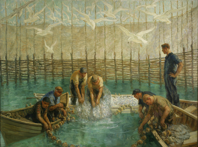 , 'Seining of the Weir Net,' , ACA Galleries