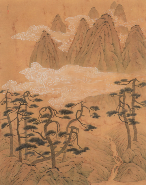 Chung-Ming Su, 'Ancient Pines and Rapid Current 古松飛湍', 2011, Artrue Gallery