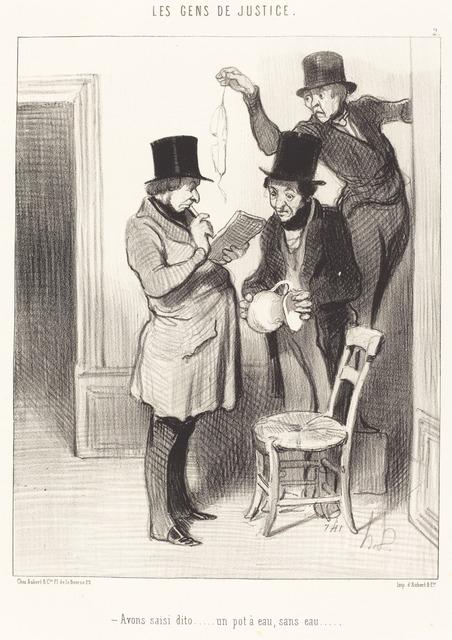 Honoré Daumier, 'Avons saisi dito... un pot a eau, sans eau', 1845, National Gallery of Art, Washington, D.C.
