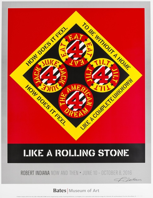 Robert Indiana, 'Like a Rolling Stone', 2016, Print, Lithograph printed in colours, Forum Auctions