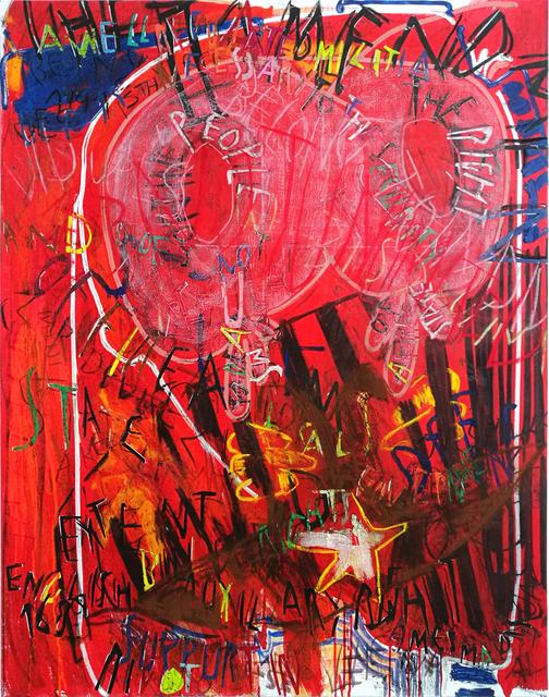 , 'RGB Affirmations (red),' 2018, Dio Horia