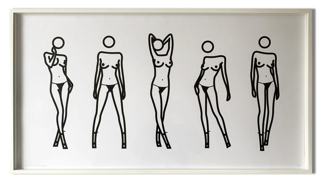 Julian Opie, 'Bijou gets undressed 5', 2004, Oliver Clatworthy