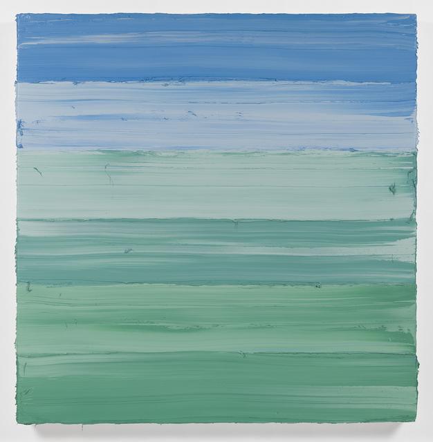 Jason Martin, 'Untitled (Mixed White/ Emerald Green/ Royal Blue Deep) I ', 2018, L.A. Louver