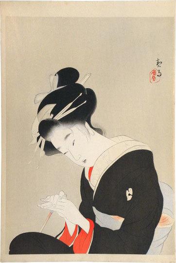 Kikuchi Keigetsu, 'The Complete works of Chikamatsu, Woodblock Print Supplement: The Heroine Koharu ', ca. 1922, Scholten Japanese Art