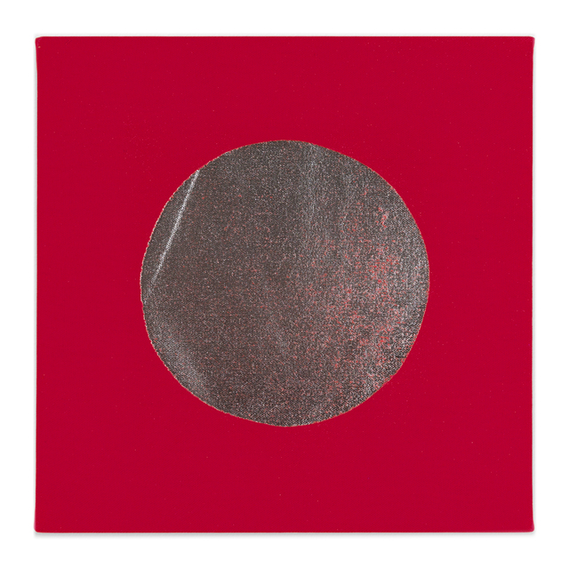 Chad Kouri, 'Reflection Pool Red (1x1)', 2021, Painting, Foil on dyed canvas, Uprise Art
