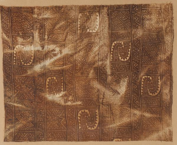 , 'Painted Textile Fragment,' 1100-1400, Muzeion Gallery