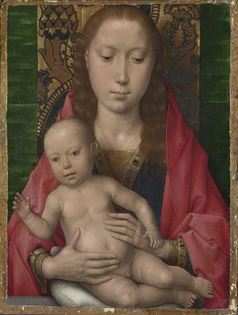 Hans Memling, 'Virgin and Child', perhaps about 1475, Painting, Oil on oak, The National Gallery, London