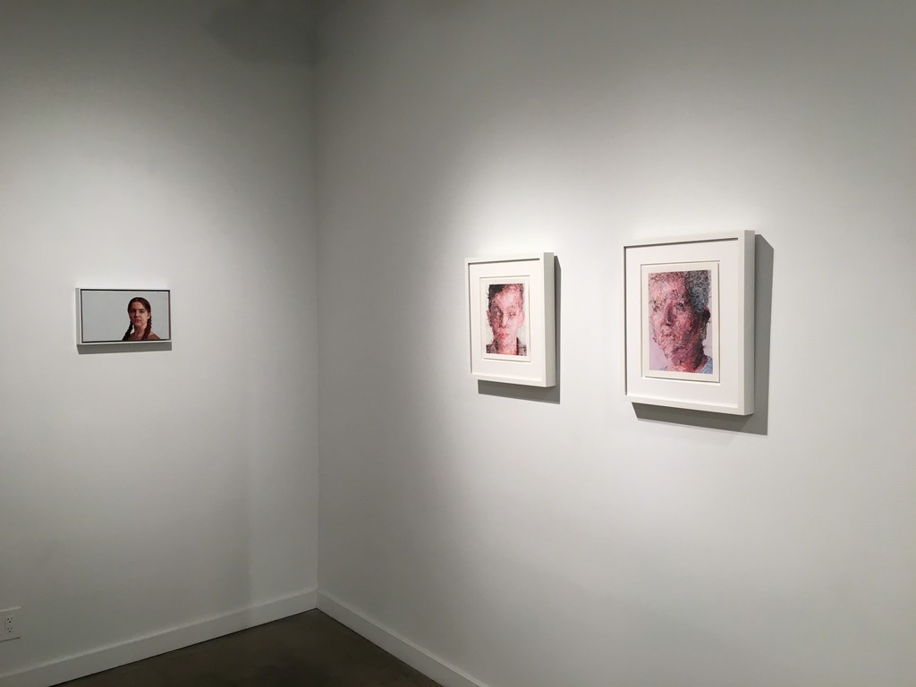 "(left wall) Hand embroidery: ""Sophie""