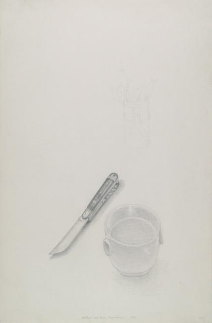 , 'Kleine weiße Schale und Messer,' 1975, Galerie Krinzinger