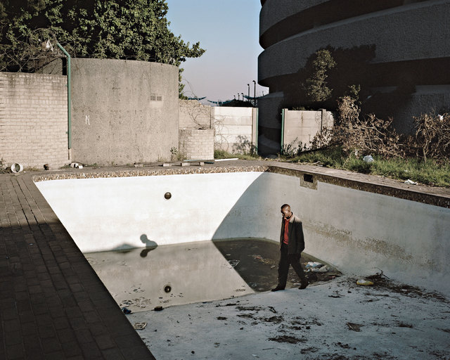 Mikhael Subotzky, 'Hallelujah's first job when he moved to Ponte in 1981 was to clean the swimming pool', 2008, Photography, Pigment inks on archival paper, mounted to Dibond, Goodman Gallery