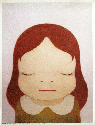 Yoshitomo Nara, 'Cosmic Girl (Eyes Open, Eyes Shut)(Two Works)', 2008, Artsnap