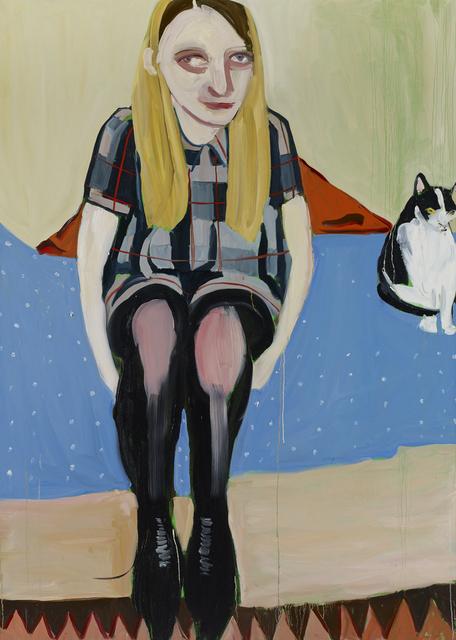 Chantal Joffe, 'Moll with the Cat', 2014, Collezione Maramotti