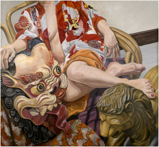 Philip Pearlstein, 'Model with Indonesian Mask', 2015, Betty Cuningham