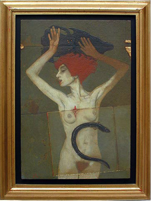 Arturo Rivera, 'De la serie del hambre del pintor: mujer y frasco', 2001, Deborah Colton Gallery