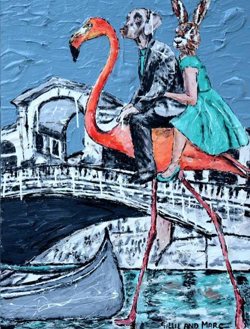 , ' She decided it was faster by flamingo than a gondola,' , Ode to Art