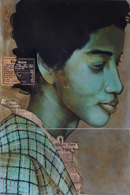 Charlotta Janssen, 'Carolyn Reed (Profile) 21 yrs, from Nashville TN Arrested 5/24/1961 Jackson MS', 2011, Hudson Milliner Art Salon