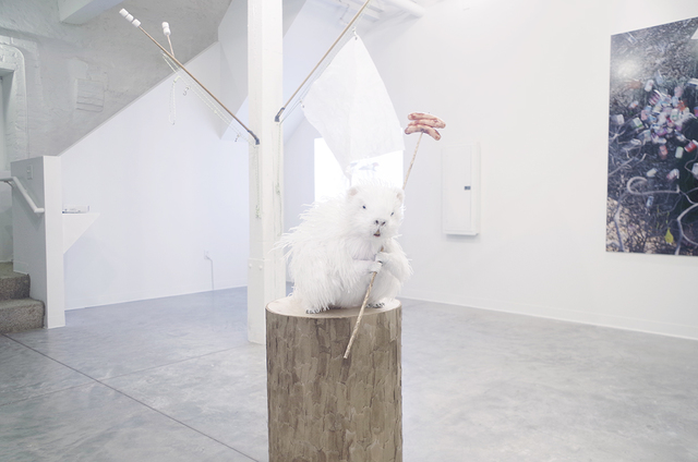 , 'Porcupine And The Ghost Flag,' 2014, GRIN