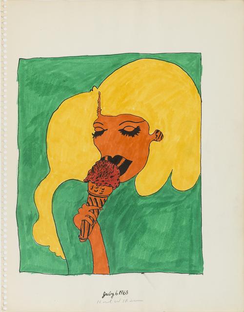 , 'Untitled (Study for Baseball Girl Painting),' 1963, Derek Eller Gallery