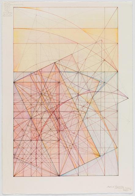 Mark Reynolds, 'Phi Root Two Series: Marriage of the Mu and the Nu, 12.10.14', 2014, Drawing, Collage or other Work on Paper, Graphite, colored inks, and pastels on cotton paper, Pierogi